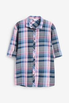 Check Longline Shirt (3-16yrs)