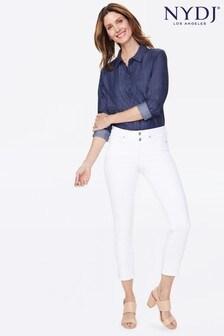 NYDJ Optic White Sheri Slim Ankle Jeans