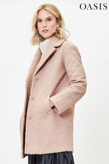 Oasis Natural Bouclé Teddy Coat