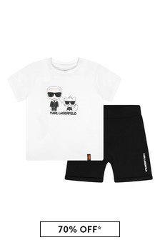 Karl Lagerfeld Baby Boys Black Cotton Set