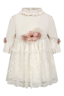 Baby Girls Ivory Velvet Tulle Dress