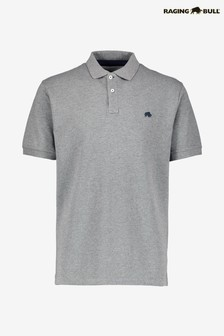 Raging Bull Grey Signature Poloshirt