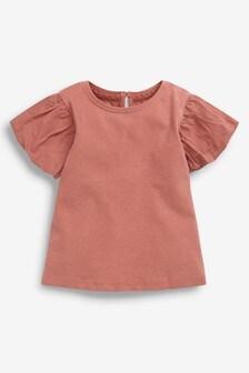 Cotton Puff Sleeve T-Shirt (3mths-7yrs)