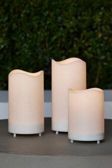 Set of 3 Solar Pillar Candles