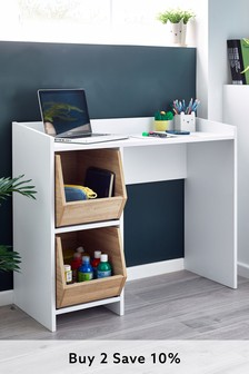 Parker Desk With Storage Boxes