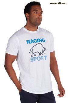 Raging Bull White Casual T-Shirt
