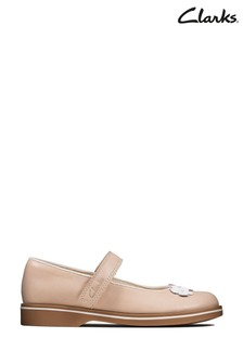 Clarks Pink Finch Bloom K Shoes
