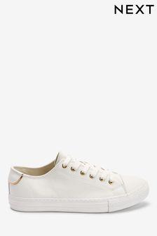 White Trainers | Womens White Slip-Ons