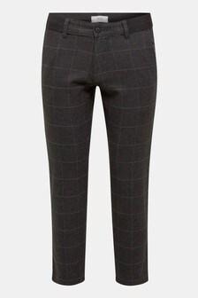 Esprit Grey Woven Window Check Pants