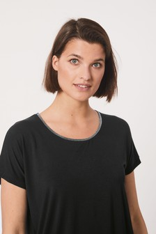 Embellished Neck Trim T-Shirt