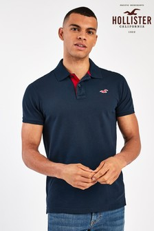 Hollister Navy Short Sleeve Polo
