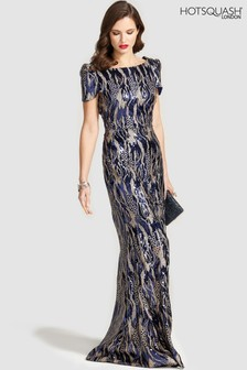 HotSquash Cowl Back Maxi Sequin Dress