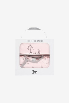 The Little Tailor Pink Jersey Sleepsuit & Bib Gift Set