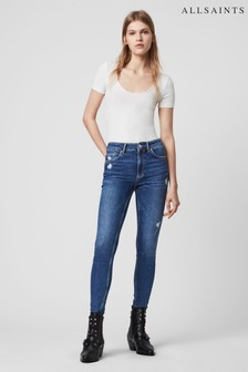 AllSaints Indigo Dax High Waisted Jeans