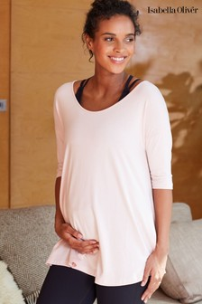 Isabella Oliver Pink The Maternity Yoga Top