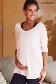 חולצת יוגה להיריון של Isabella Oliver דגם The Maternity Yoga בוורוד