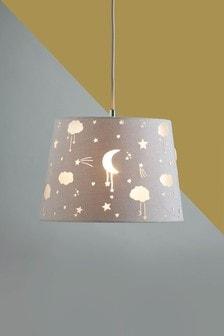 Abażur Easy Fit z motywem gwiazd i księżyca