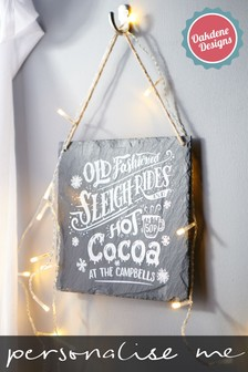 Personalised Slate Sign by Oakdene Designs