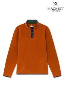Hackett Orange HKT Fleece Sweat Top