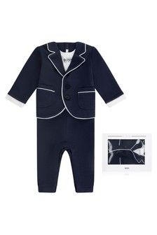 Baby Boys Blue Milano Suit All-In-One