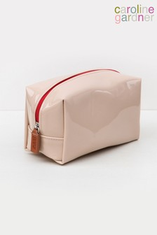 Caroline Gardner Patent Cube Cosmetic Bag