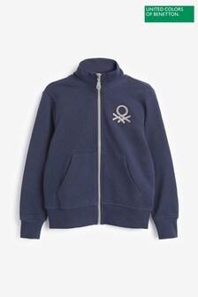 Benetton Navy Zip Through Jacket