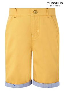 Monsoon Yellow Marty Shorts