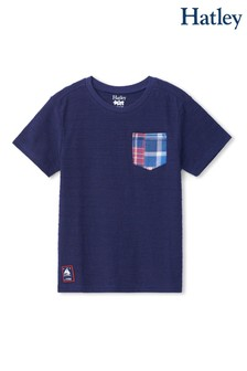 Hatley Blue Graphic Front Pocket T-Shirt