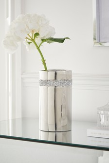 Silver Harper Ceramic Vase