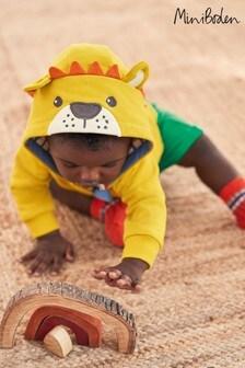 Boden Yellow Novelty Lion Hoody