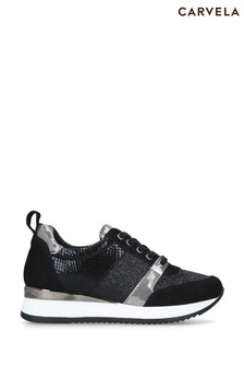 Carvela Black Justified Trainers