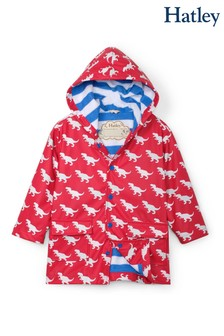 Hatley Red T-Rex Silhouettes Colour Changing Raincoat