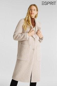 Esprit Cream Casual Outdoor Coat