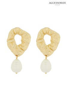 Accessorize Cream Molten Pearl Drops