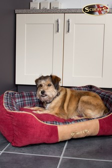 Washable Highland Tartan Small Breed Dog Bed by Scruffs®