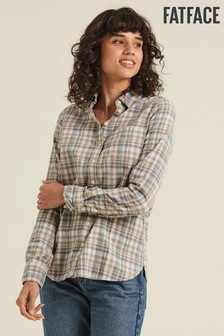 FatFace Grey Olivia Check Shirt