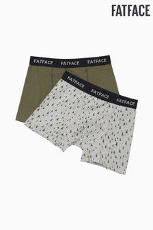 FatFace Grey Multi Tree Boxers 2 Pack
