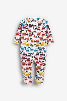 Digger Fleece Sleepsuit (0mths-3yrs)