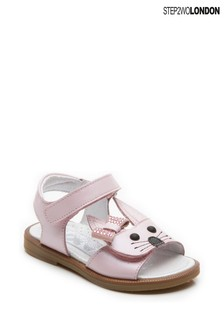 Step2wo Pink Rabbit Bow Sandals