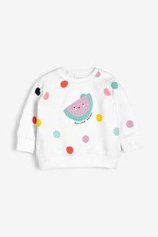 Melon Spot Sweater (0mths-3yrs)