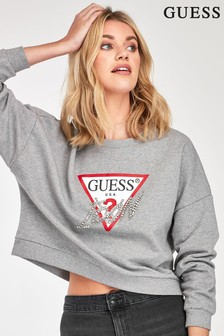 Guess Grey Icon Sweat Top