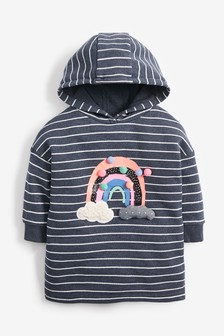 Stripe Rainbow Longline Hoody (3mths-7yrs)