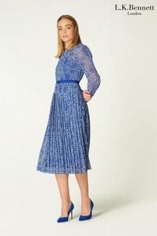 L.K.Bennett Blue Avery Dress
