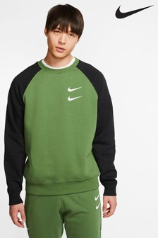 Nike Swoosh Graphic Crew Sweat Top