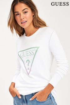 Guess White Sheila Sweatshirt