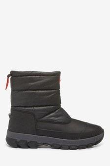 Hunter Original Black Insulated Snow Boots