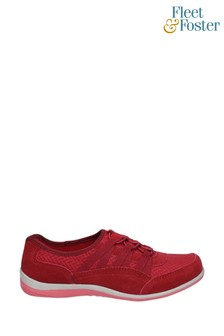 Fleet & Foster Red Dahlia Slip-On Shoes