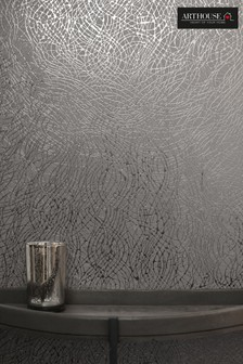 Metallic Swirl Foil Wallpaper by Arthouse