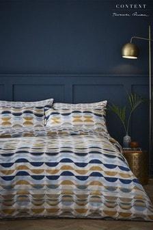 Eclipse Geo Cotton Duvet Cover and Pillowcase Set