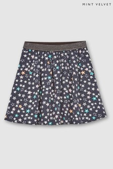 Mintie by Mint Velvet Grey Willow Star Print Skirt